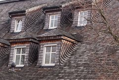 Complex roof lines. Dormers. Expensive. Maintenance issues.