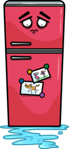 refrigerator leaking cartoon
