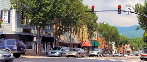 picture of downtown brevard nc