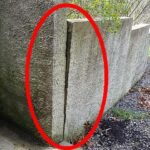 leaning block retaining wall