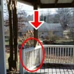 improperly supported porch post