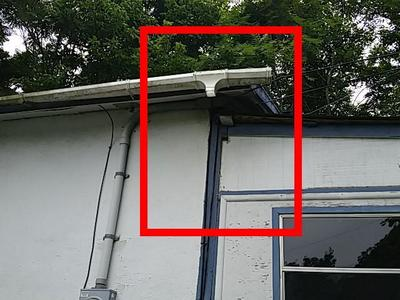 missing downspouts