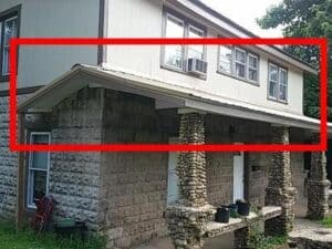 Missing Gutters on a House